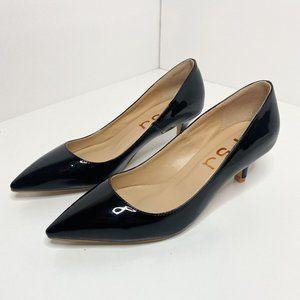 FSJ Patent Leather Pointed Toe Kitten Heel…
